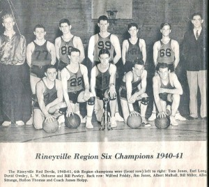 Rineyville Basketball Team '40-'41 001